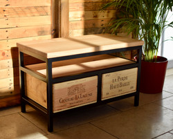 Custom 2x1 Acier TV cabinet