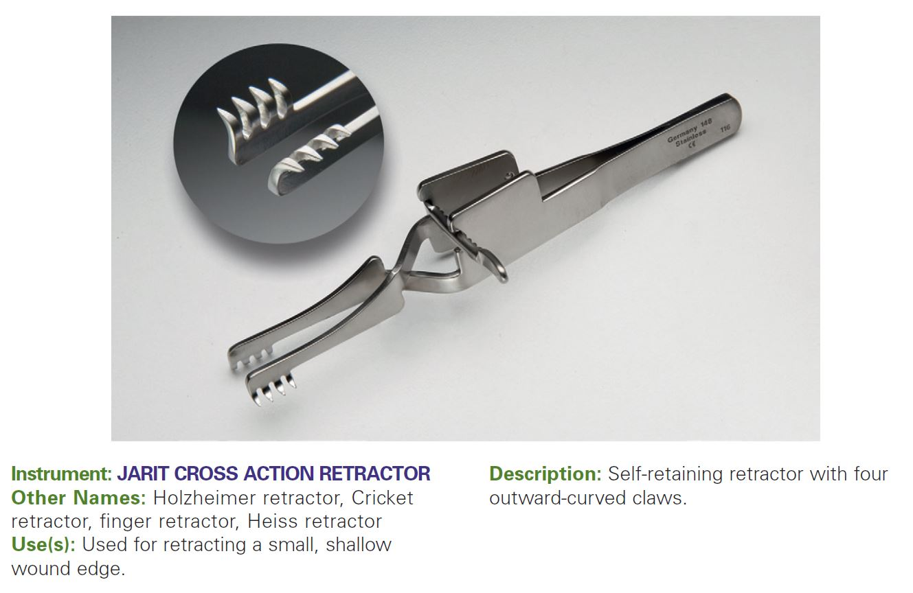JARIT CROSS ACTION RETRACTOR
