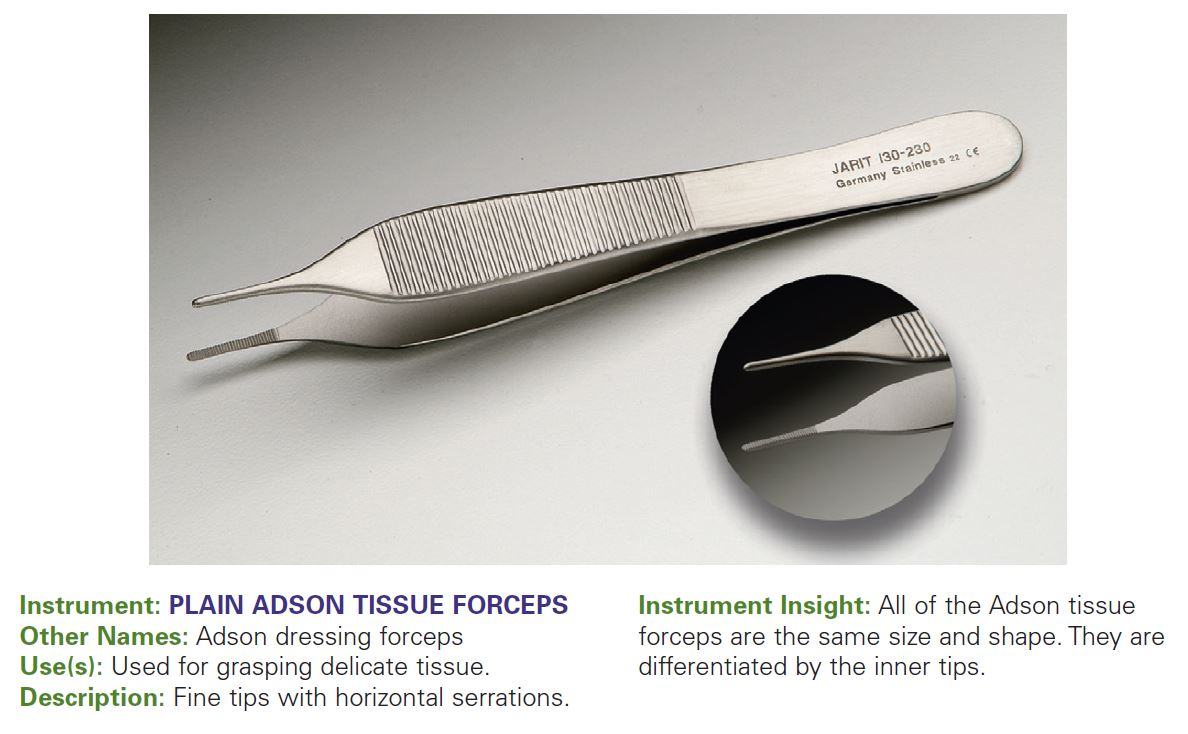 PLAIN ADSON TISSUE FORCEPS