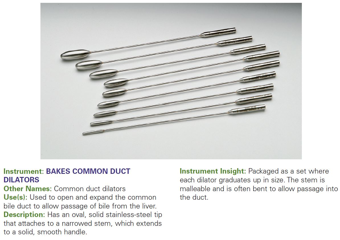 BAKES COMMON DUCT DILATORS