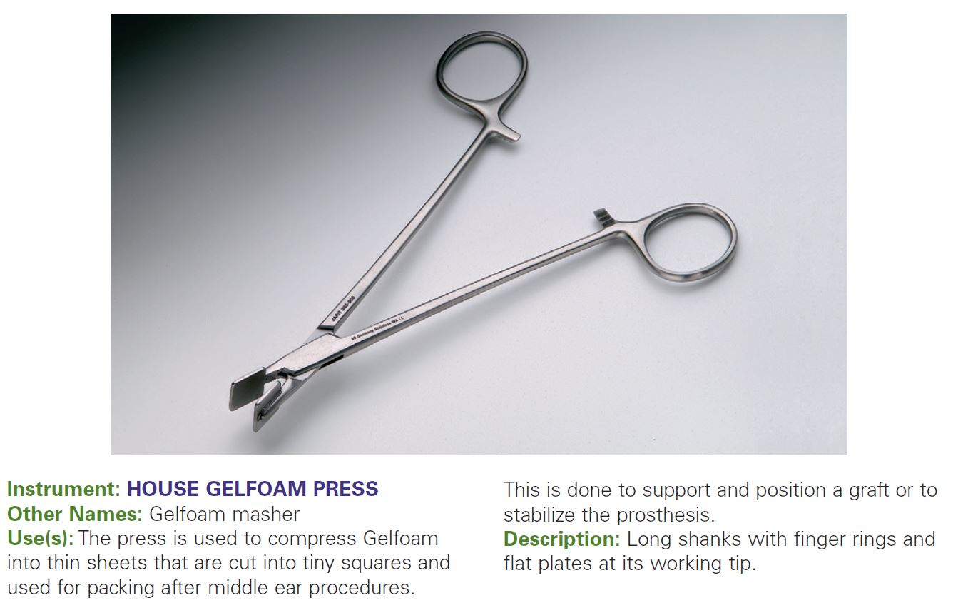 HOUSE GELFOAM PRESS