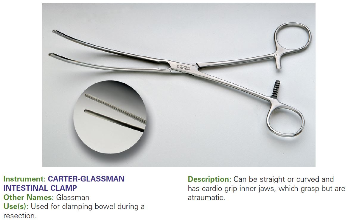 CARTER-GLASSMAN INTESTINAL CLAMP