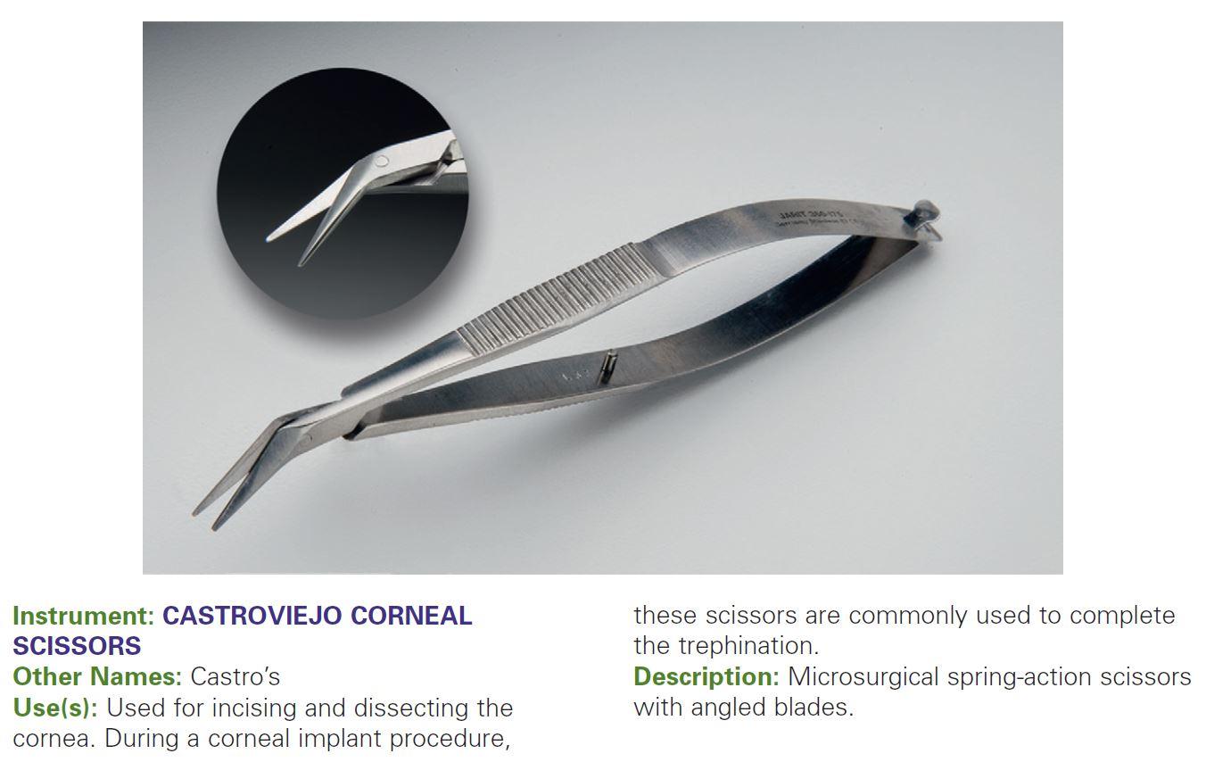 CASTROVIEJO CORNEAL SCISSORS