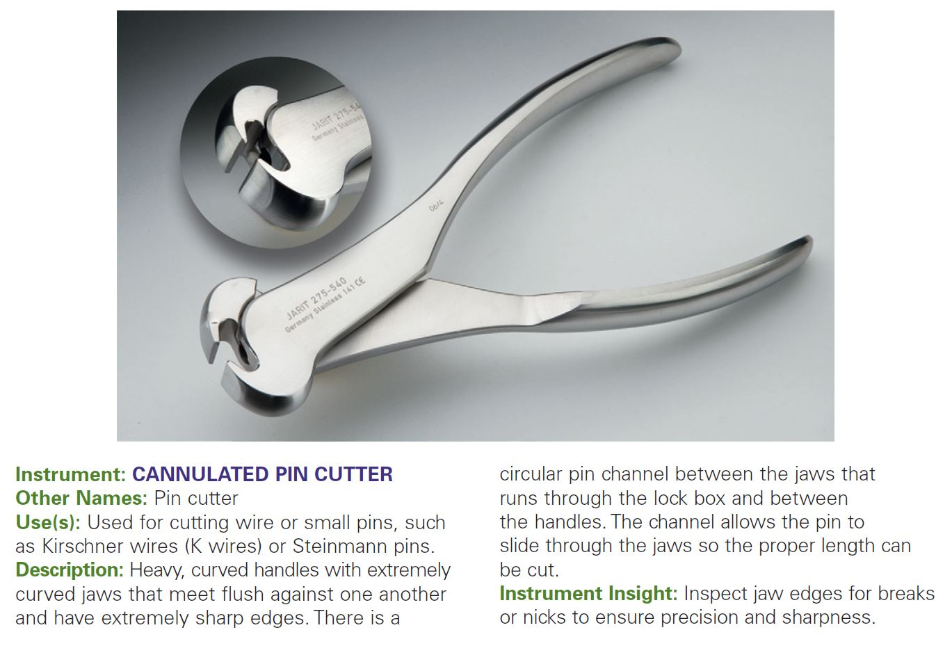 CANNULATED PIN CUTTER
