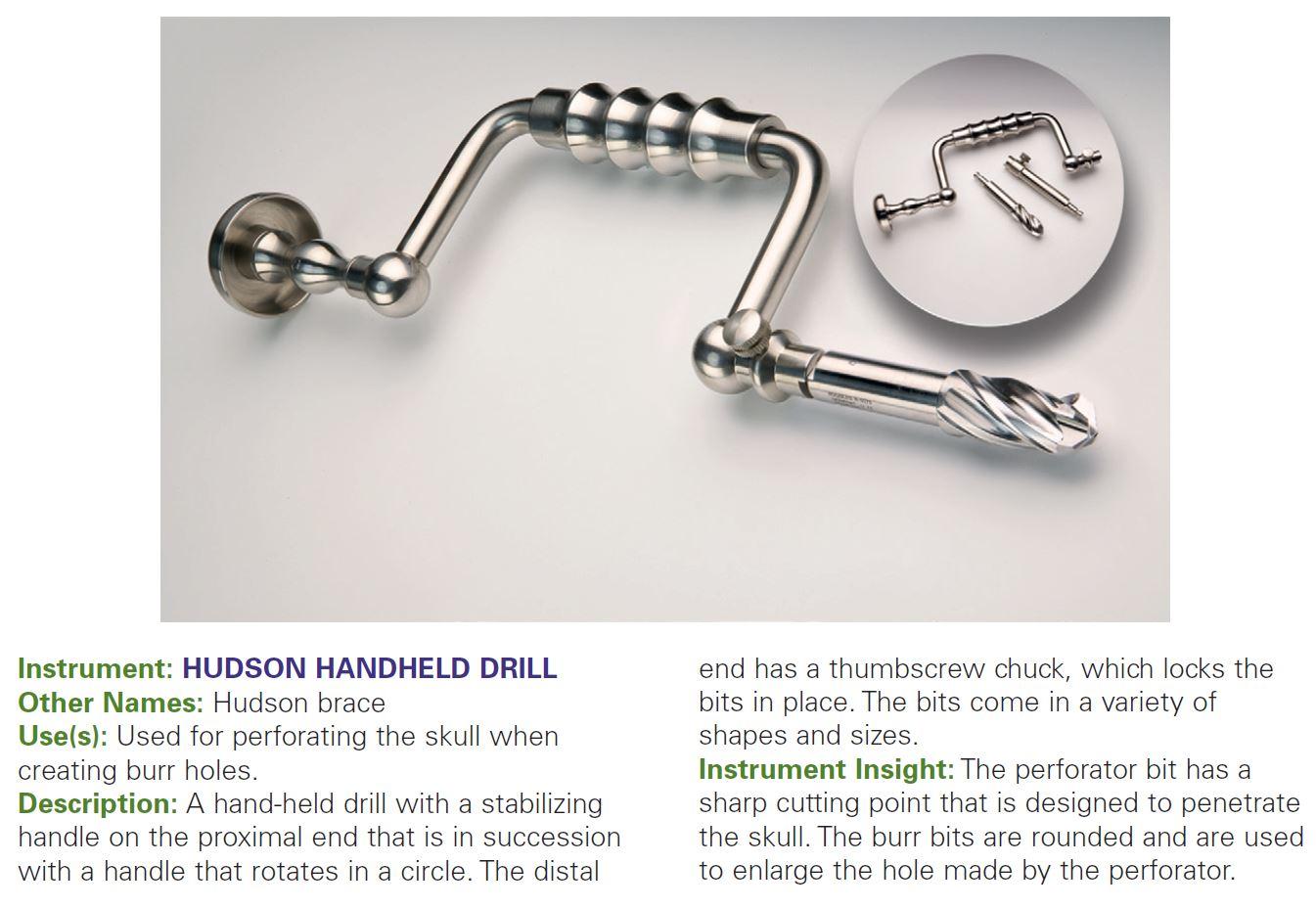 HUDSON HANDHELD DRILL