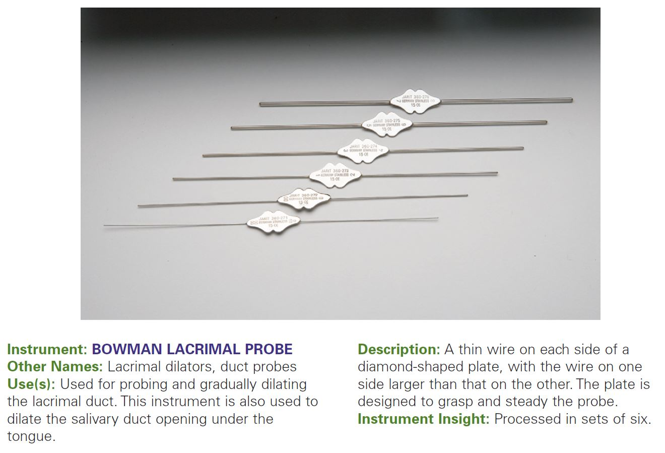BOWMAN LACRIMAL PROBE