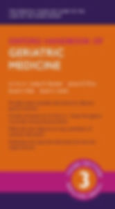 Oxford Handbook of Geriatric Medicine 3r