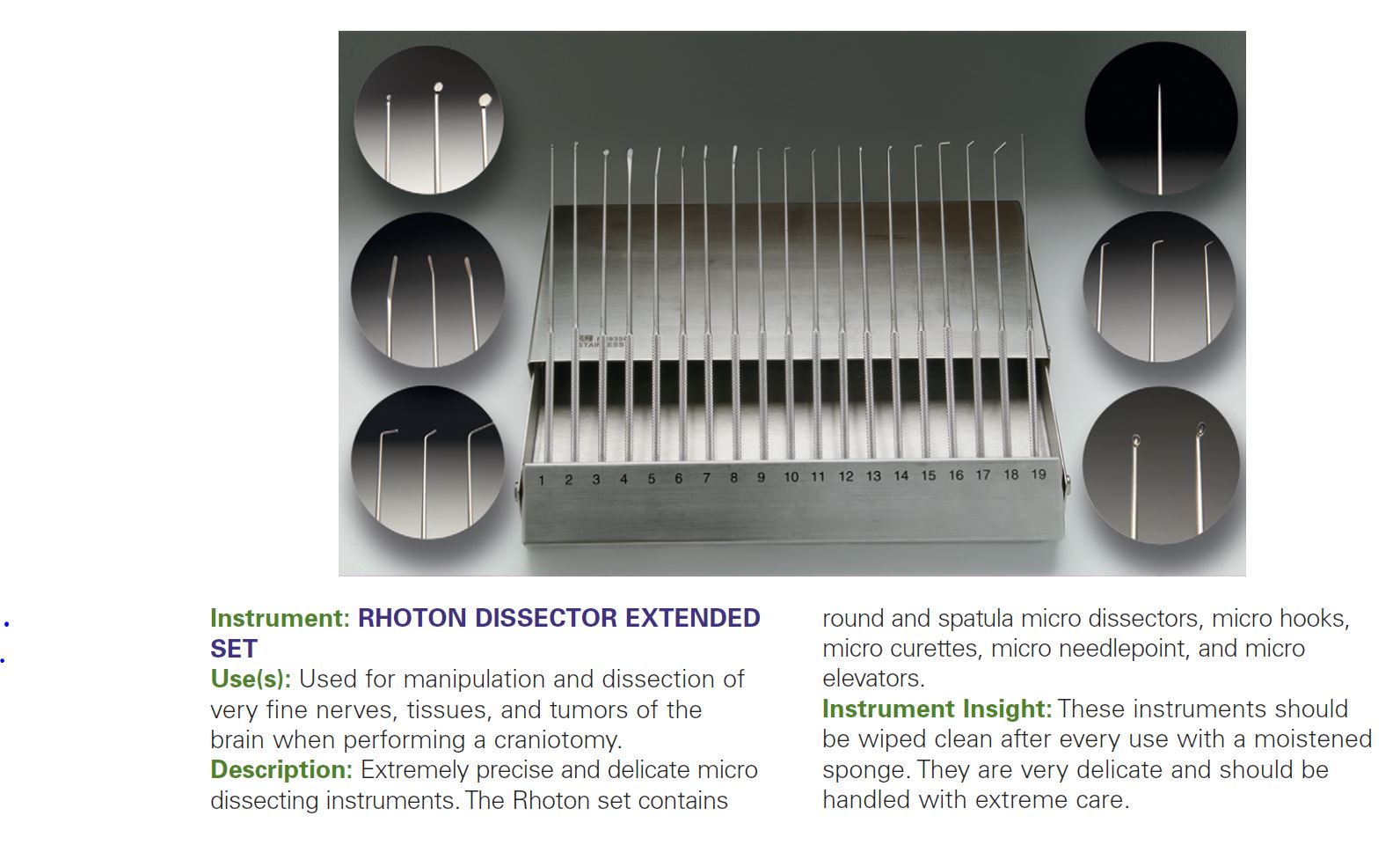 RHOTON DISSECTOR EXTENDED SET