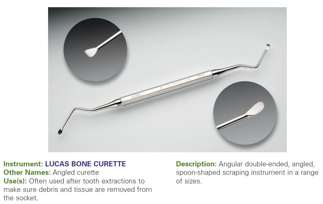 LUCAS BONE CURETTE