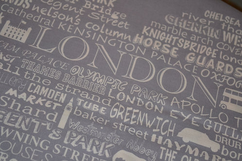 London Heart Tea Towel - Grey