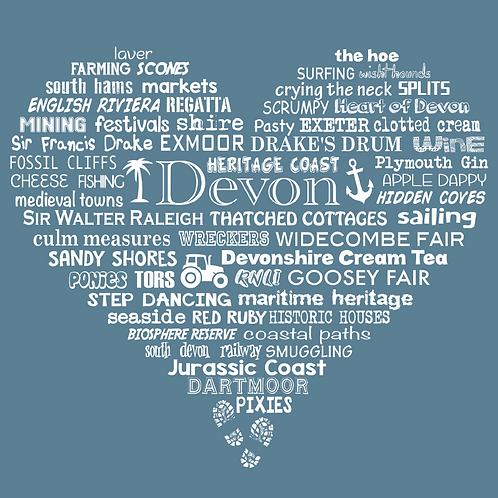 Devon Heart Card - Storm