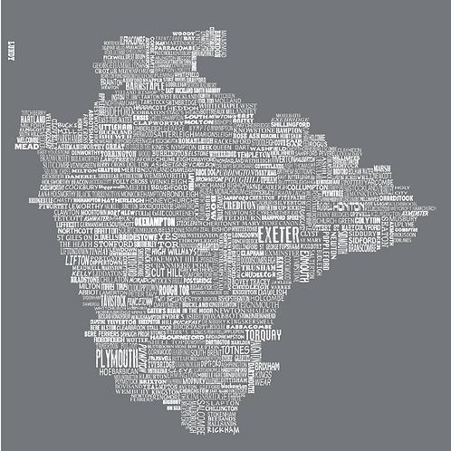 Devon Map - Slate