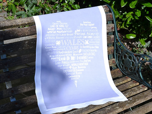 New! Wales Typographic Heart - Grey