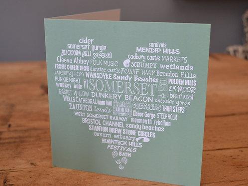 Somerset Heart Card - Meadow