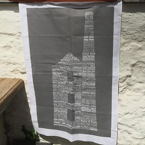 Cornish Engine House Tea Towel
