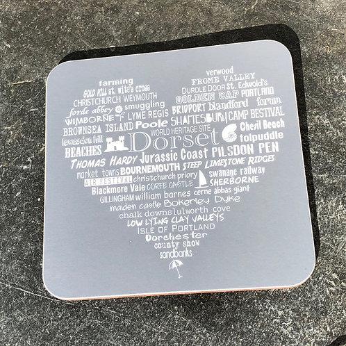 Dorset Heart Coaster - Slate