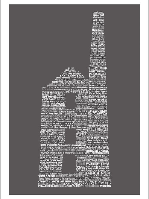 Typographic Engine House Large Print