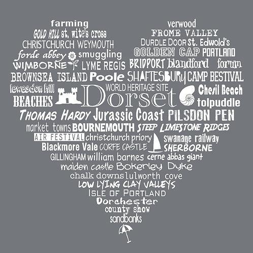 NEW! Dorset Heart Card - Slate