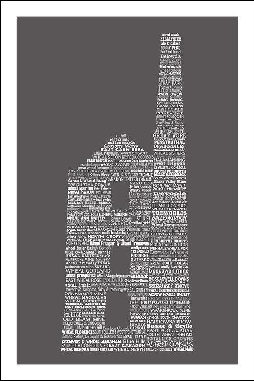 Typographic Engine House Mini Print