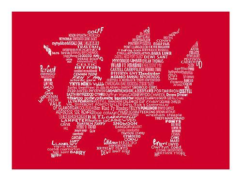 Welsh Dragon Print (Welsh Version)