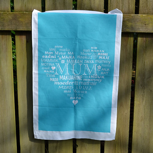MUM Tea Towel - Blue