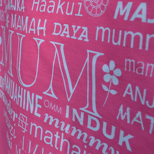 MUM Tea Towel - Pink