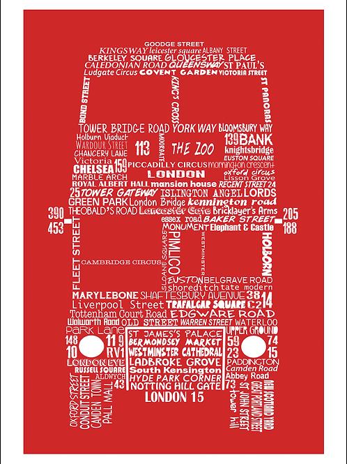 Greetings Card London Bus