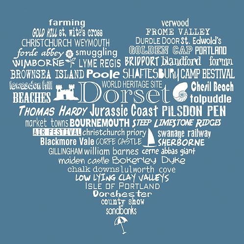 NEW! Dorset Heart Card - Storm