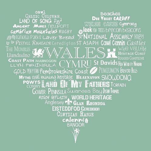 Wales Heart Card - Meadow