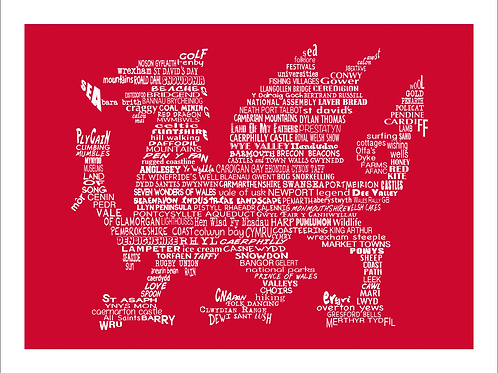 Welsh Dragon Print (English Version)