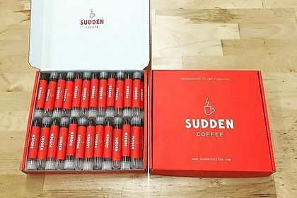 Sudden Coffee brand multi serve gourmet coffee kit