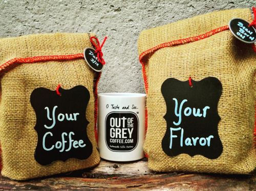 Out of the Grey brand, gourmet flavored coffees