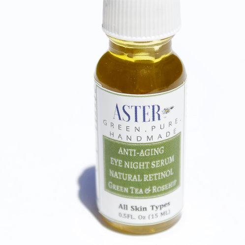 Anti-Aging Nourishing Night Eye Serum | Green Tea & Rosehip |  Natural Retinol