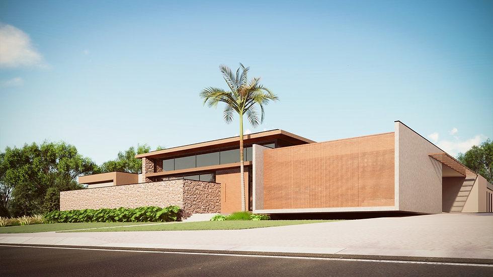 fachada projeto casa quinta da baronesa.
