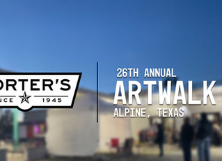Porter's Sponsors 26th Annual Alpine Artwalk