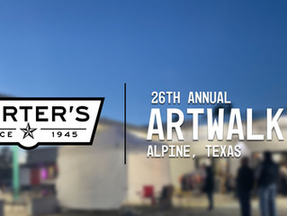 Porter's Sponsors 26th Annual Alpine Artwalk