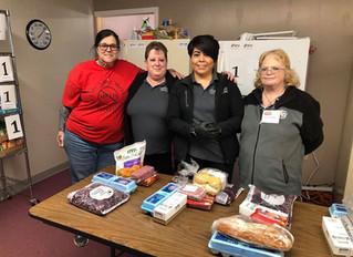 Team Members Volunteer at the Crane Community Food Pantry