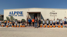 Porter's Donates Pumpkins to Alpine Christian School