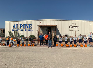 Porter's Donates Pumpkins to Alpine Christian School