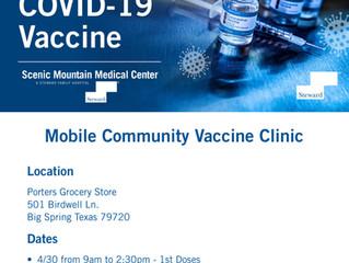Big Spring location COVID-19 Vaccine Site