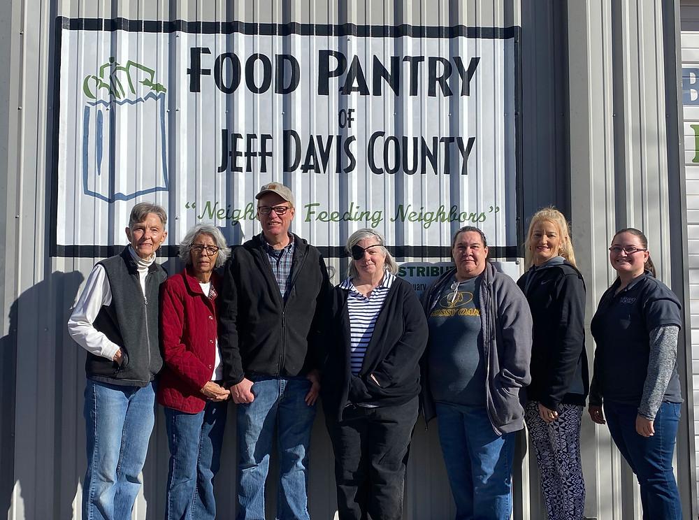 Volunteer's of the Jeff Davis County Food Pantry