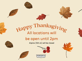 Thanksgiving Store Hours