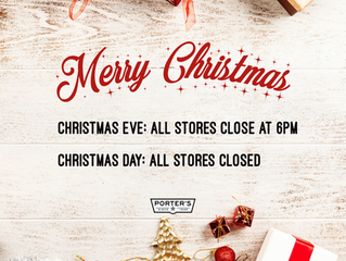 Christmas Store Hours