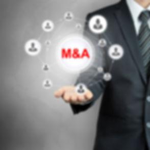 M & A (Merger & Acquisition) sign connec