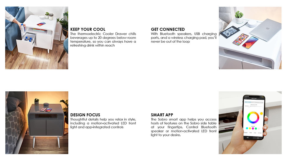 Sobro Smart Side Table Product Catalog 2