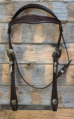 Browband headstall with Custom Hardware