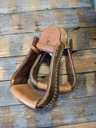 "3 1/2"" Rawhide Covered Stirrups"
