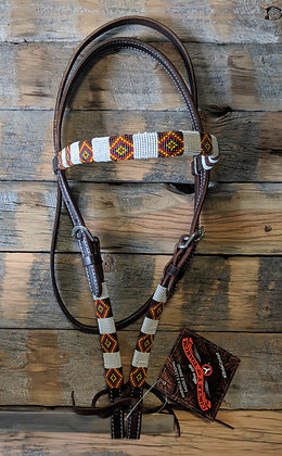 Circle y beaded Headstall