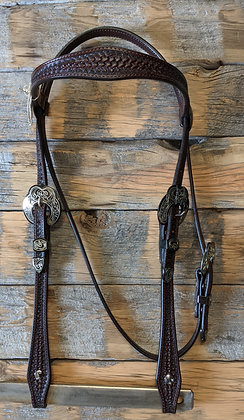 Handmade Headstall with Hansens Silver