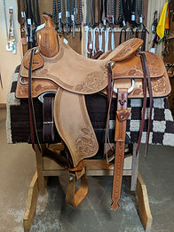 16.5 Working Cow Horse Saddle Don Leason